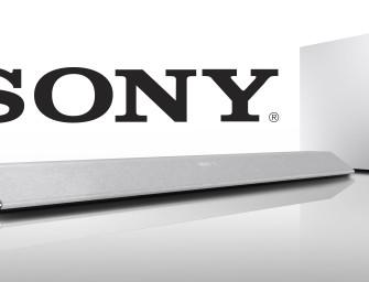 Sony's nieuwe soundbars en soundbase