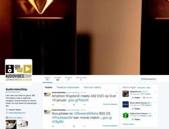 Audiovideo2day nu ook aanwezig op twitter