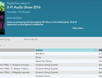 X-Fi Qobuz playlist nu beschikbaar