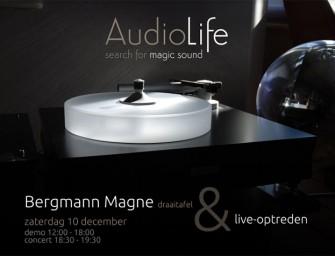 Bergmann draaitafels en liveoptreden bij AudioLife
