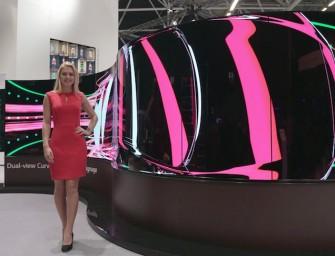 LG OLED flexibele 'advertising screens' zijn de toekomst van tv