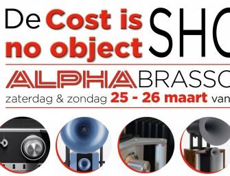 De Cost is No Object Show 2017 bij Alpha Brasschaat 25 & 26 maart