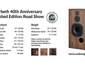 EVO 432 & Harbeth 40th Anniversary Roadshow bij Audiotweaks op 11 & 12 maart
