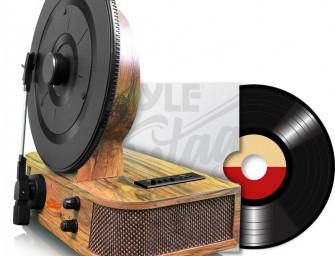 Rip je vinyl tracks naar MP3 met de Pyle Bluetooth Vertical platenspeler