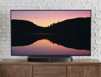 Past je tv niet op de Sonos Playbase? Ontdek de Sanus Swiveling TV Base