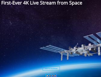 NASA maakt als eerste 4K livestream in de ruimte