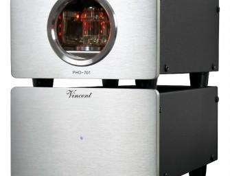 Vincent PHO-701 phono-versterker met buizen en usb