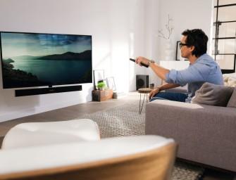 Vogel's brengt automatisch draaiende tv-beugel met geluid uit