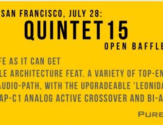 PureAudioProject zal Quintet15 uitbrengen op CAS